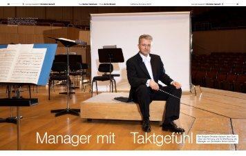 Manager mit Taktgefühl Der Dirigent Christian ... - Gansch und Partner