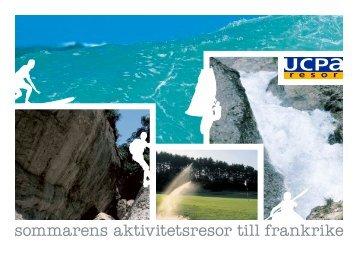 sommarens aktivitetsresor till frankrike - U.C.P.A Resor