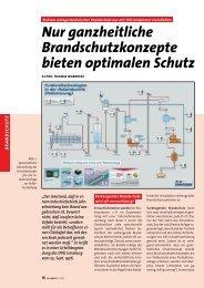 Nur ganzheitliche Brandschutzkonzepte bieten ... - bei T&B electronic
