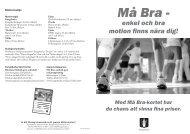 Må bra folder 2011 - Kungsbacka kommun