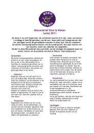 Nieuwsbrief Eten & Weten Lente 2011 - Voedingspraktijk Eten ...