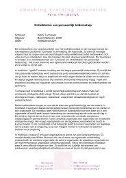 Ontwikkelen van persoonlijk leiderschap - Peta Twijnstra coaching ...