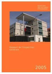 Rapport de l'Inspection Générale - France-Diplomatie-Ministère des ...