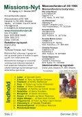 Missions-Nyt nr. 2 - 2012 med billeder - Missionsfonden - Page 2