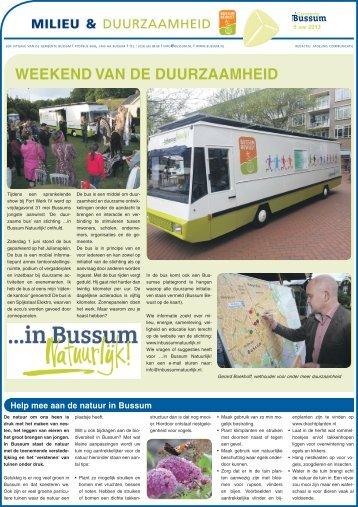 Milieu & Duurzaamheid van 5 juni 2013 - Gemeente Bussum