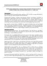 Formandens beretning - fuld ordlyd.pdf - Dampskibsselskabet ...