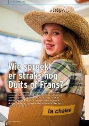 Wie spreekt er straks nog Duits of Frans? - Cygnus Gymnasium