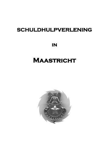 Scriptie schuldhulpverlening in Maastricht - Wsnp - Raad voor ...