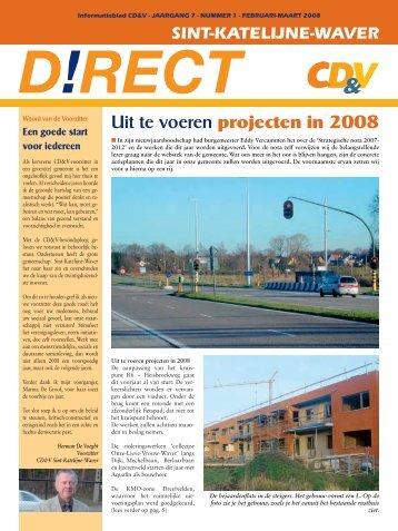 Uit te voeren projecten in 2008 - Sint-Katelijne-Waver - CD&V