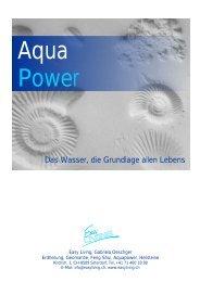 AQUA POWER Heilsteine für Wasser und Heizung ... - Easyliving.ch