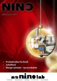 November 2011 • Produktvideo fra ELGA • Juletilbud ... - Ninolab