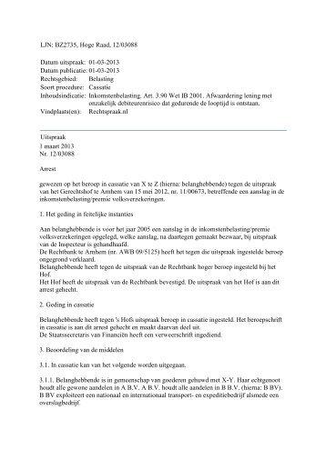 Hoge Raad, LJN BZ2735, 1 maart 2013 - Accountancy Nieuws
