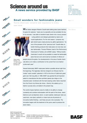 Small wonders for fashionable jeans - Internet Public Star