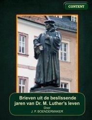 brieven uit de beslissende jaren van luther's leven, 1516/1521