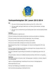 Verksamhetsplan SK Laxen 2012-2014
