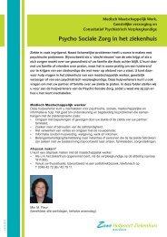Psycho Sociale Zorg in het ziekenhuis - Zuwe