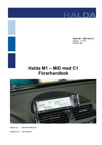 Halda M1 – MID med C1 Förarhandbok