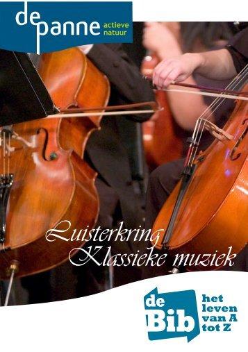 Luisterkring Klassieke muziek - De Panne