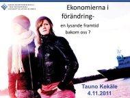 Ekonomierna i förändring - Kristinestad