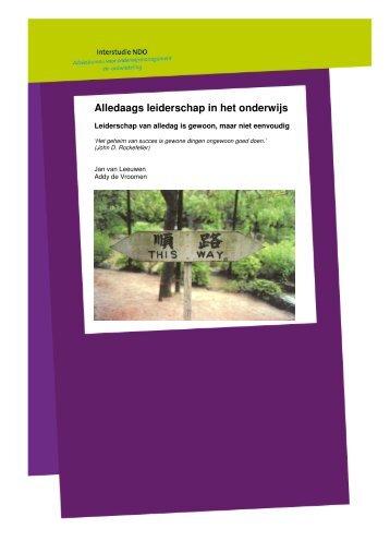 Publicatie Alledaags Leiderschap - Interstudie NDO