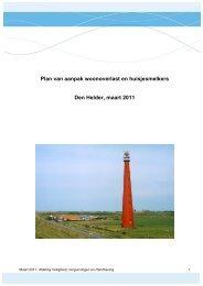 Plan van aanpak woonoverlast en huisjesmelkers Den Helder ...