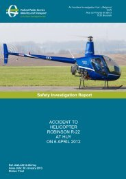 ACCIDENT TO HELICOPTER ROBINSON R-22 AT HUY ... - Belgium