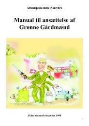 Manual til ansættelse af grøn gårdmand - Rent Skrald