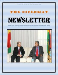 Newsletter (Issue 16) - Ministry of Foreign Affairs, Regional ...