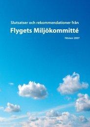 Slutsatser och rekommendationer från flygets ... - Svenskt Flyg