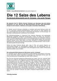 Die 12 Salze Des Lebens 2 - Pedro Drogerie Durtschi