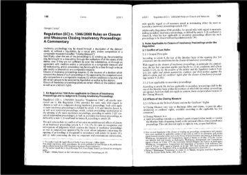 Regulation (EC) 'n. 1346/2000 Rules on Closure and ... - Studio Corno