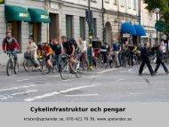 Cykelinfrastruktur och pengar