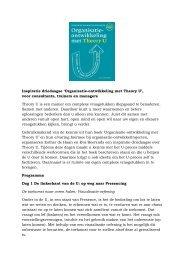 Inspiratie driedaagse 'Organisatie-ontwikkeling met ... - Nessun Dorma