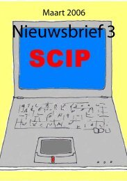 SCIP nieuws maart 2006