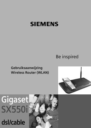 De Gigaset SX550i dsl/cable - Draads