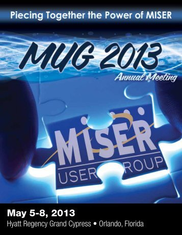 May 5-8, 2013 - Miser Users Group