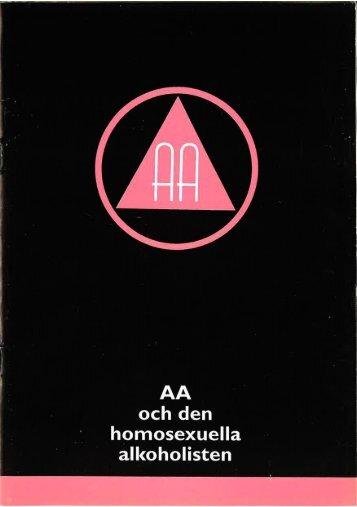 AA och den homosexuella alkoholisten - Anonyma Alkoholister i ...