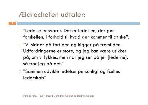 Oplæg Helle Alrø og Dorthe Jepsen