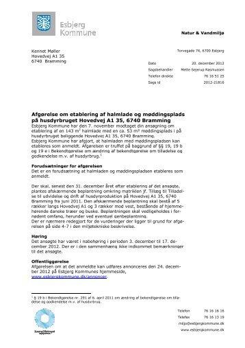 Afgørelsen hentes her som PDF - Esbjerg Kommune