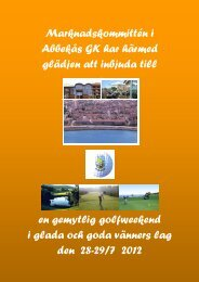 Golfresan 2012 som går till Bornholm 1.58 Mb PDF - Abbekås GK