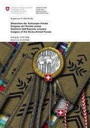 Distintivi dell'Esercito svizzero - Schweizer Armee - CH