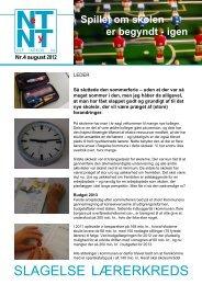 Netnyt august 2012 - Aktuelt fra Slagelse Lærerkreds
