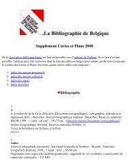 Supplément Cartes et Plans 2000 - Koninklijke Bibliotheek van België