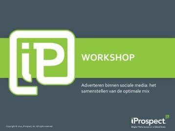 Adverteren binnen sociale media - iProspect