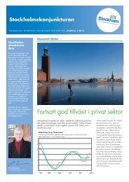 Fortsatt ökning av antalet sysselsatta - Stockholm Business Region