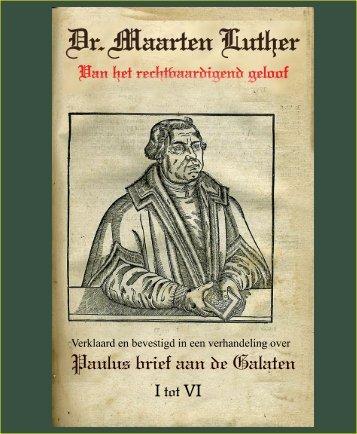 VOORLEZING VAN PAULUS's BRIEF AAN DE GALATEN,1531