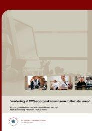 Vurdering af VOV-spørgeskemaet som måleinstrument - skala til ...
