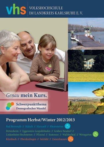 Meine Freizeit ist - Volkshochschule im Landkreis Karlsruhe e.V.