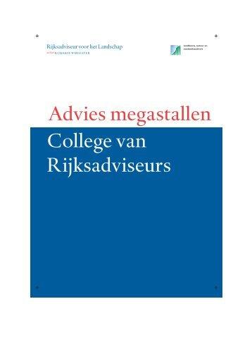 Advies megastallen College van Rijksadviseurs