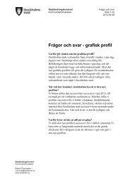 Frågor och svar - grafisk profil